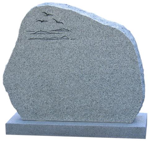 Gravsten - Ljusgrå granit